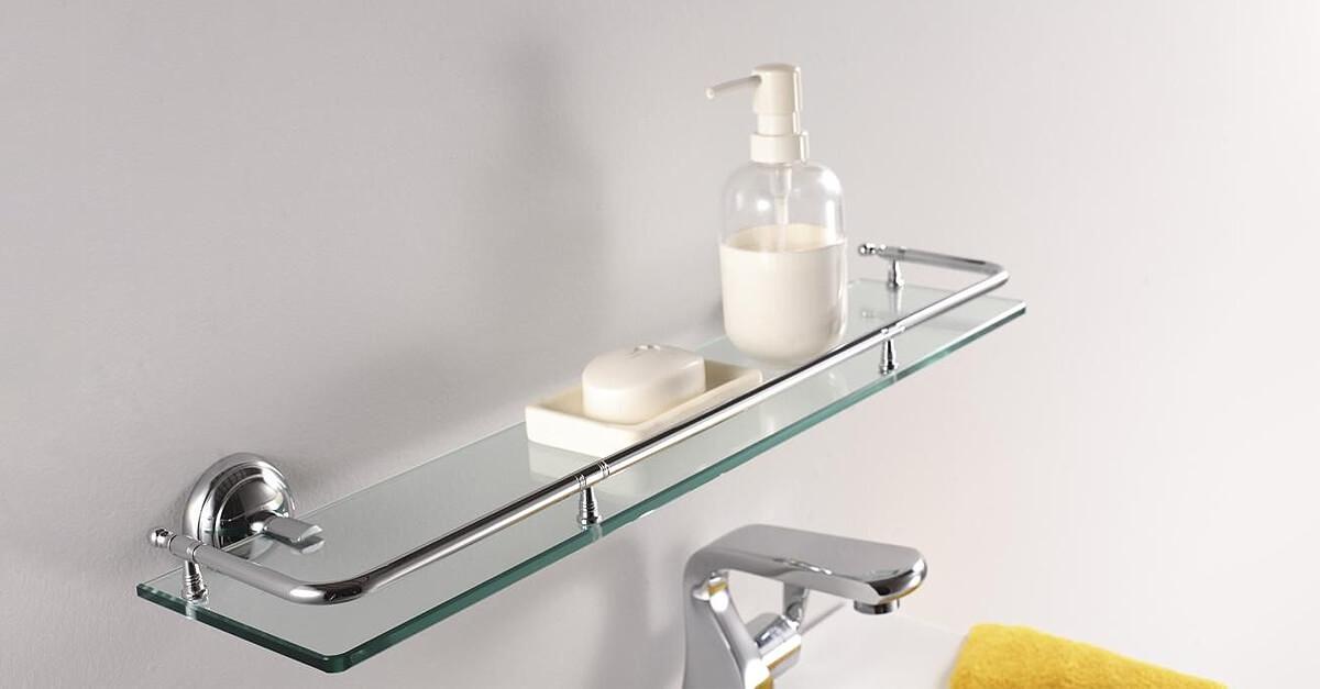 Bathroom Glass Shelves Qs Supplies Uk, Glass Shelves For Bathrooms